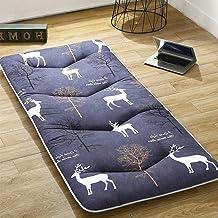 Futon Mattress, 5 cm Thick Mattress Flannelette Breathable Bed Mat Student Dormitory Mattress Non-Slip Tatami Bedroom Mat