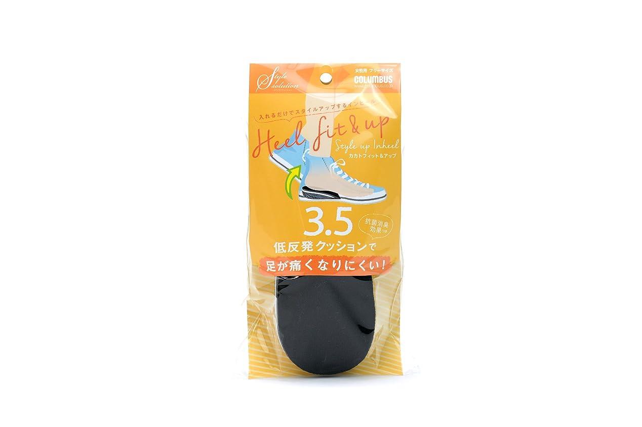 クラックポットリネン平手打ちコロンブス スタイルソリューション カカトフィット&アップ 3.5cm 1足分(2枚入)