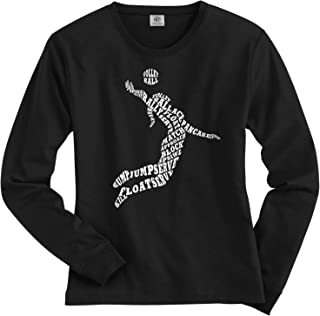 Women's Volleyball Player Typography Long Sleeve T-Shirt