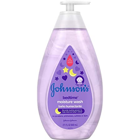 Johnson's Tear-Free Bedtime Baby Moisture Wash with Soothing NaturalCalm Aromas, 27.1 fl. oz