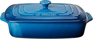 "Le Creuset Stoneware Covered Rectangular Casserole, 3.5 qt. (12.5"" x 8.5""), Marseille"