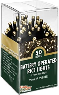 Holiday Bright Lights Christmas B/O 50L 5MM Rice Light- Warm White