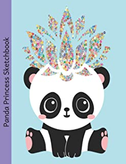 Panda Princess Sketchbook: Blank & Dotted Paper for Drawing, Doodling and Sketching for Girls