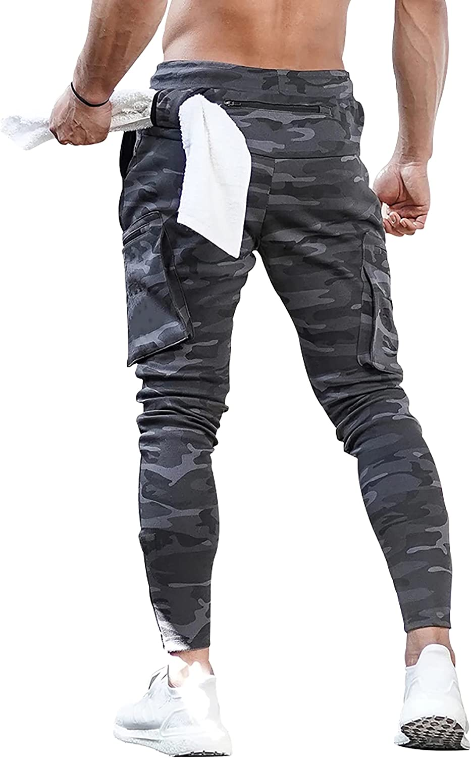 MECH-ENG Men's Active Tack Jogger Fitness Pants Tapered Sweatpan Max 65% OFF ! Super beauty product restock quality top!