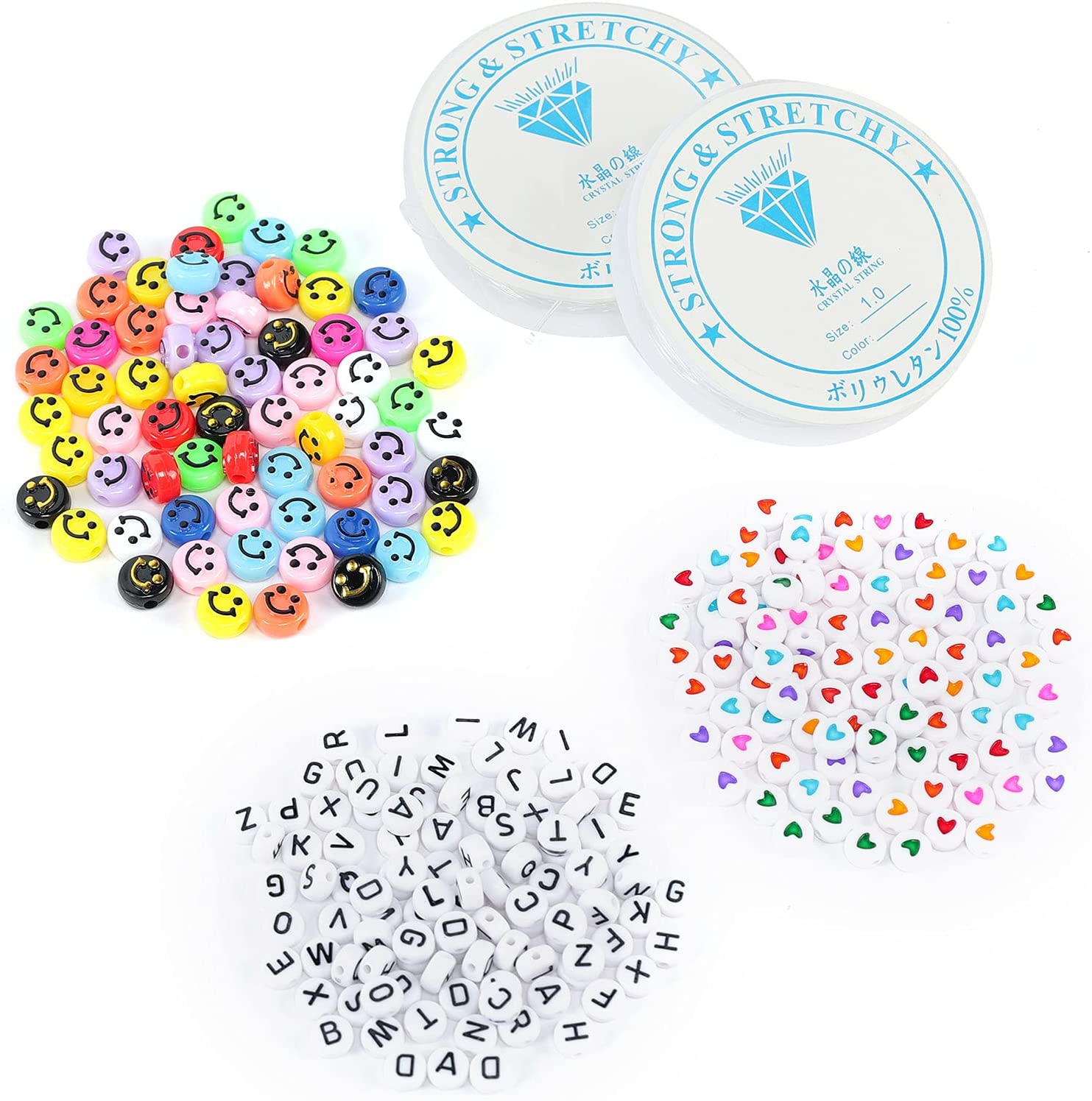 SALENEW very popular 300Pcs Multicolor Acrylic Beads for Jewelry Let Making gift Including