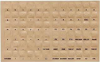 LS&S Transparent Braille Keyboard Stickers