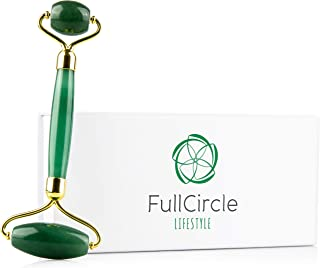Premium Jade Roller For Face In Gift Box By FullCircle Lifestyle - No Squeak Action & Built To Last - 100% Natural Jade Roller Face Massager