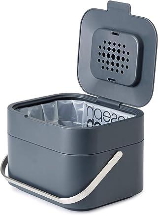 Joseph Joseph30016智能垃圾箱气味过滤器可堆肥的垃圾箱垃圾桶, 1-gallon, Gray