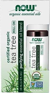 Now Foods Tea Tree Essential Oil Blend, Organic Roll-On, 10 milliliters
