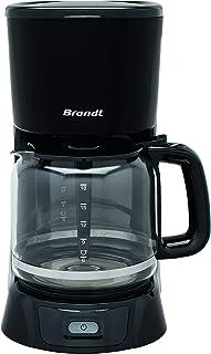Brandt CAF1318 – Cafetière Filtre Électrique – Capacité 18 Tasses – Réservoir 1,8L – Verseuse en Verre — Fonction Maintien...