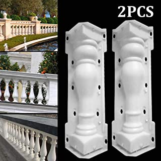 SaTaS 60X14cm Paving Molds Roman Column Mould Fence Balcony Garden Pool Cement Railing Plaster Concrete Mold Column guardrail Building