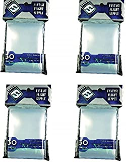 Fantasy Flight Clear Sleeves: Standard Card Game 50 Sleeves Per Pack, Pack Of 4