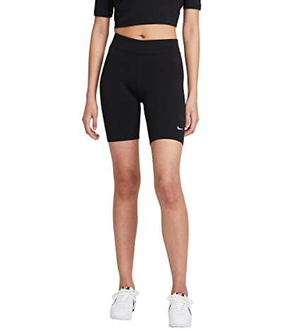 Nike NSW Essential Bike Shorts LBR Mid-Rise (Black/White) Women