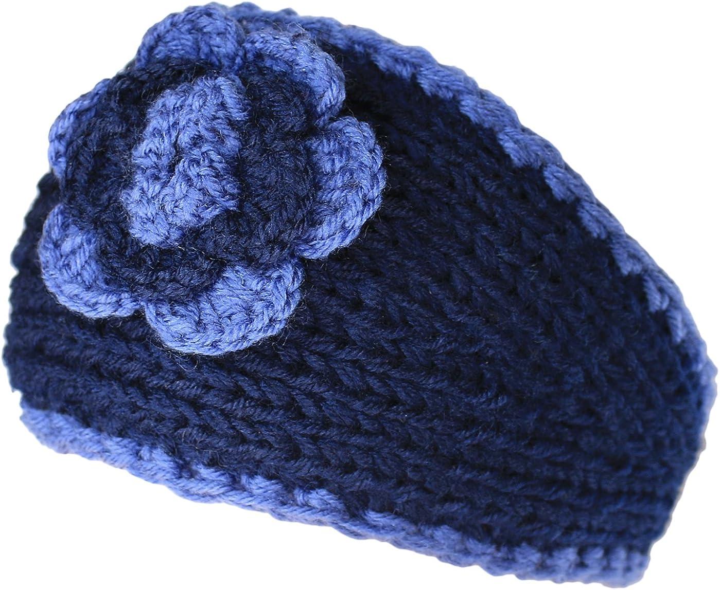 KMystic Winter Two Tone Flower Headband