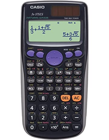 0f45a40f79 カシオ 関数電卓 数学自然表示 394関数 10桁 fx-375ES-N ブラック