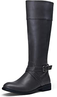 Women's 49 Riding Boots Knee High Boots Buckle Calf Boot
