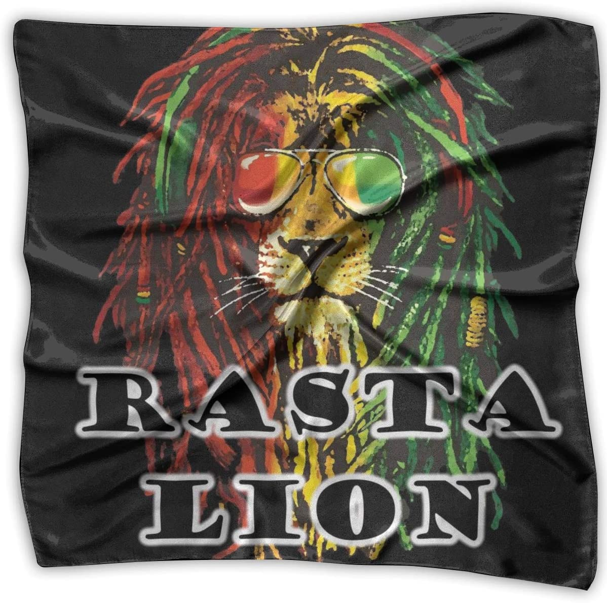 YANGZXC Rasta Lion Jamaican Handkerchief Polyester Pocket Square Mulipurpose Silk Bandanas Delicate Printing
