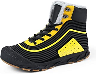 Hommes Bottes de Neige Hiver étanche Cuir Baskets Super Chauds Hommes extérieurs Chaussures de Travail de randonnée Hommes...