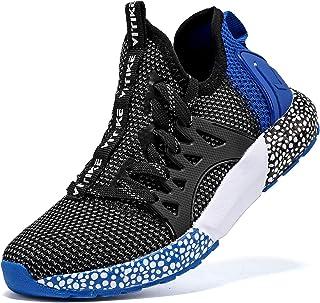 Boys Running Shoes Kids Sneakers Girls Athletic Tennis Shoe Breathable Lightweight Slip on Sports Knit Sock Sneaker