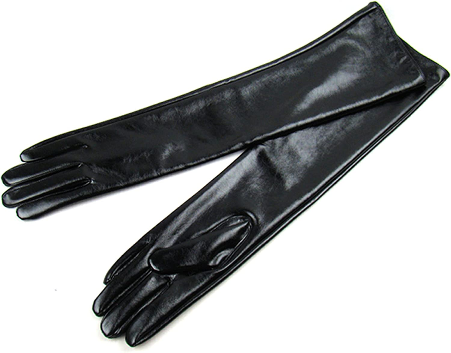 Women Lady Winter Long Leather Gloves Touchscreen Elbow Length Evening Party