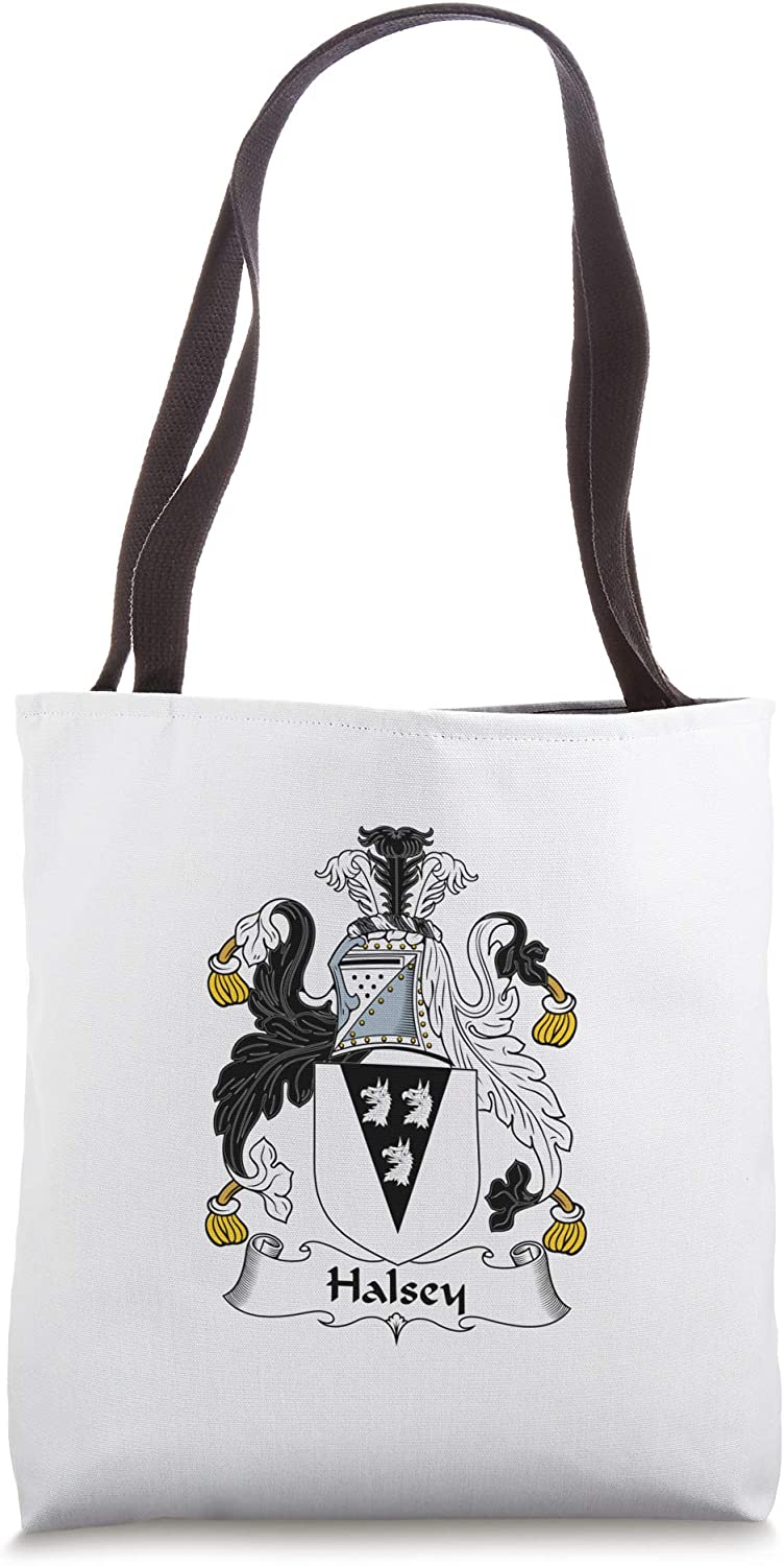 Halsey Coat of Arms - Family Crest Tote Bag
