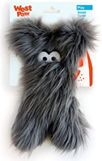 West Paw Darby Plush Dog Toy, Pewter Fur