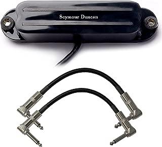 Seymour Duncan SHR-1n Hot Rails Strat Humbucking Pickup (Neck/Black) w/ 2 Patch Cables