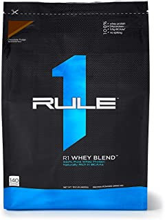 R1 Whey Blend, Rule 1 Proteins (Chocolate Fudge, 140 Servings)