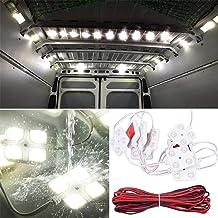 Lianqi 12V 10x4 LED Auto Luz interior Cúpula de techo Luz