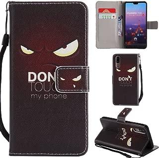Ooboom Huawei P20 Pro ケース 手帳型 横開き カバー 革 マグネット式ド収納 スタンド機能 財布型 カード おしゃれ フリップ ために Huawei P20 Pro - Don't Touch My Phone