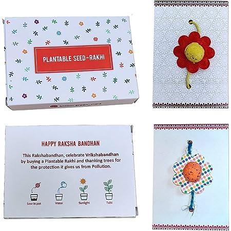 Bloomgreen Handmade Plantable Seed - Combo Rakhi Kit | Raksha Bandhan 2020, Special Rakhi Combo (Pack of 2)