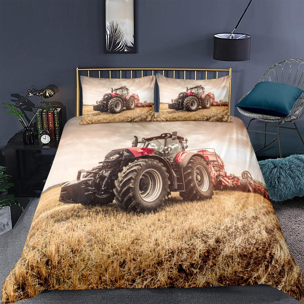 supreme 3-Piece Duvet Covers Set Truck Larg Print 3D Outdoor Bedding Bombing free shipping