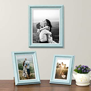Art Street Turquoise Blue Set of 3 Photo Frames for Table Top Display and Wall mounting Picture Frame Home DecorSize4X6, 5...