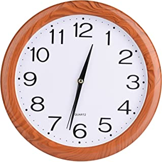 Laigoo 12 inch Analog Wall Clock, Silent Non-Ticking, Decorative Modern Wall Clock Battery Operated for Living Room Bathro...