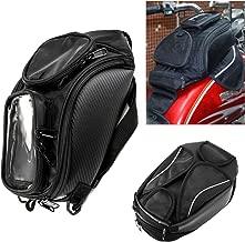 Motorcycle Tank Bag Oxford Waterproof Magnetic Saddlebag with Big Window Black Universal Rear Seat Saddle Bag Travel Tool Tail Luggage