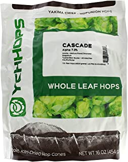 Cascade Leaf Hops 1 POUND by Midwest Homebrewing and Winemaking Supplies (Green)