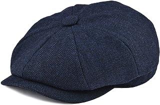 e3a22df7cf5 BOTVELA Men s 8 Piece Wool Blend Newsboy Flat Cap Herringbone Pattern in  Classic 5 Colors