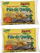 AMAFIL Mix for Cheese Bread 35.2 oz. - 2 Pack / Mistura Preparada para Pao de Queijo 1kg. - 2 Pack