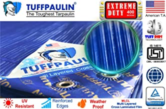 TUFFPAULIN Extreme Duty Waterproof UV Treated Virgin Extra Strong IS14611:2016 Approved 400 Microns Tarpaulin (Blue)