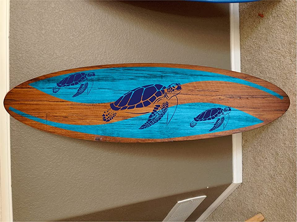 6' wall hanging surf board surfboard decor hawaiian beach surfing beach decor