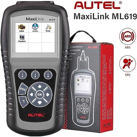 Autel ABS SRS OBD2 Scanner, Autel Scanner Maxilink ML619, Upgraded Version of AL619, Check Engine Code Reader with 10 OBD2 Test Modes