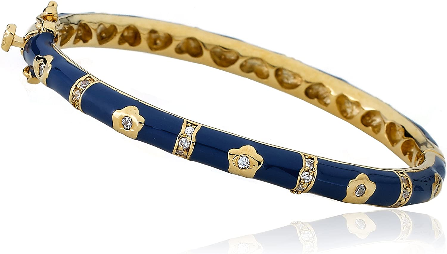 Little Sales results No. 1 Ranking TOP1 Miss Twin Stars Outfit Bangle Makers Navy 14k Gold-Plated