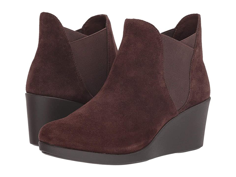 Crocs Leigh Wedge Chelsea Boot (Espresso) Women