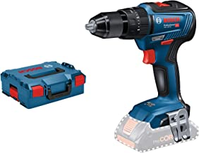 Bosch Professional 06019H5303 GSB 18V-55-Taladro percutor (18V, 55 NM, sin batería, en L-BOXX), 18 V, Azul