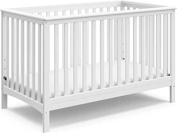 Storkcraft Hillcrest Fixed Side Convertible Crib White Easily Converts To Toddler Bed Day Bed Or Full Bed Three Position Adjustable Height Mattress Some Assembly Required Mattress Not Included