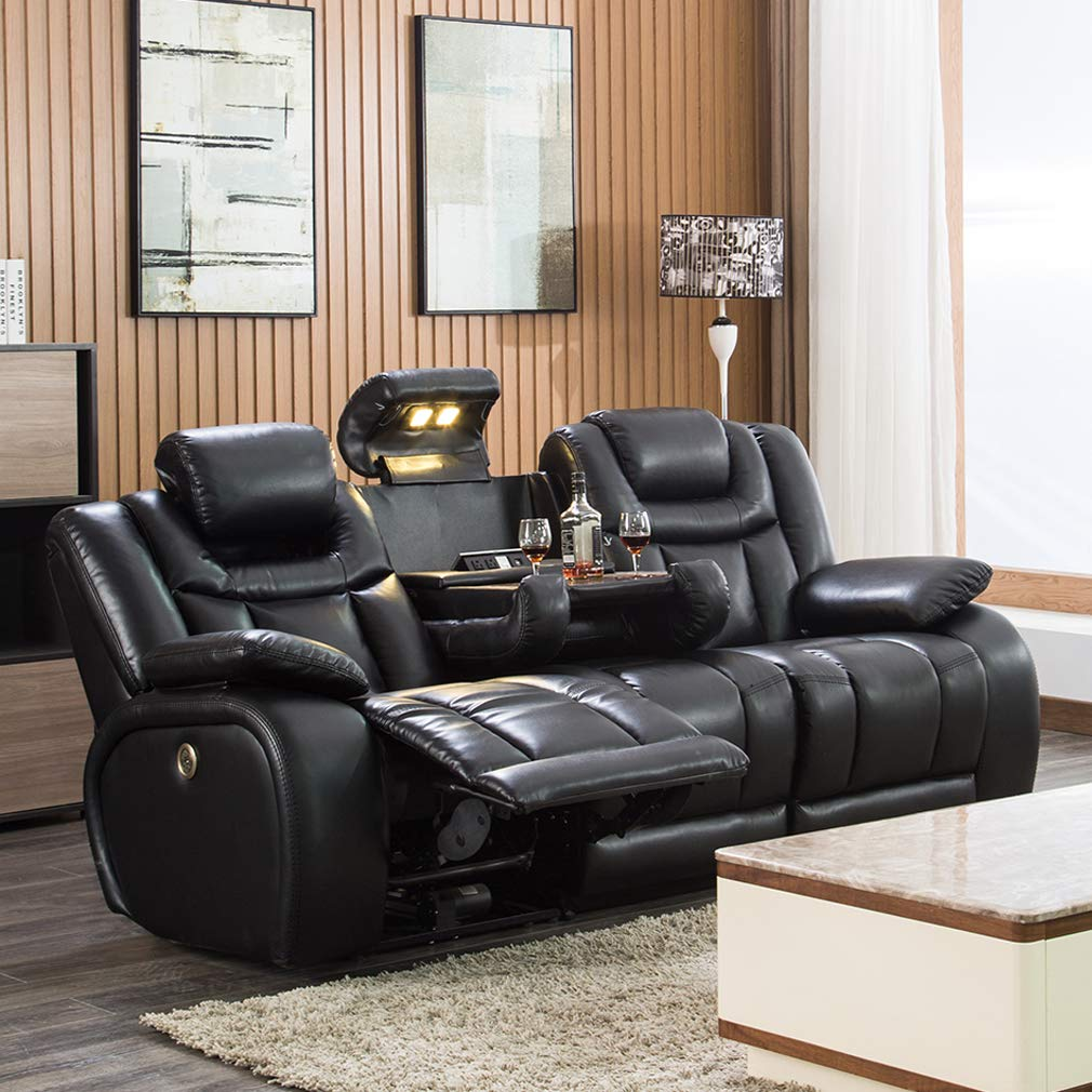 Reclining Sectional Adjustable Headrests Fold Down