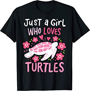 Just a Girl Who Loves Turtles Turtle Gift T-Shirt