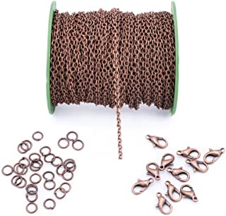 3X4mm 40feet antique copper Open Link Cable Chain Lobster Clasp Jump Ring for Necklace Jewelry Accessories DIY Making 12meter