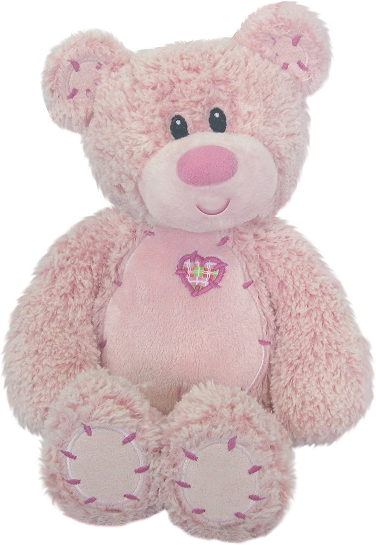 First & Main Easter Stuffed Pink Tender Sitting Position Teddy Bear 8  Plush
