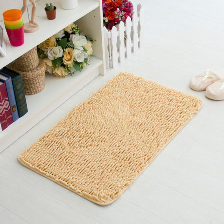 Bathroom Water-Absorbing mat Foot Pad Doormat Long Mao Xue Neil mats Bathroom Anti-Slip mat-B 70x140cm(28x55inch)